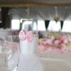 Verre décoré pour les mariés
