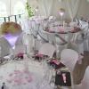 Mariage rose tendre et gris