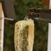 Détail du bar à Champagne