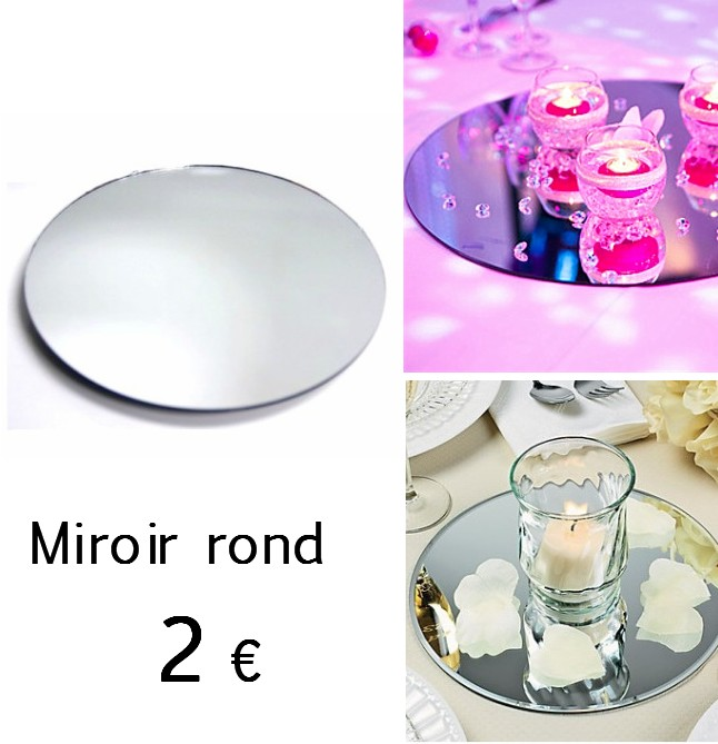 Centre de table miroir rond for Miroir rond 30 cm