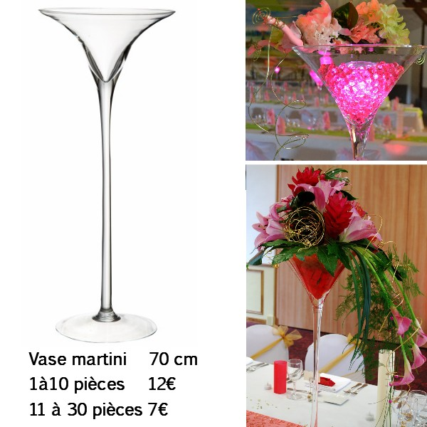 Verre martini geant pour centre de table - Centre de table verre martini ...