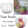 Vase boule centre de table