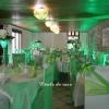Anniversaire de mariage en vert anis et blanc