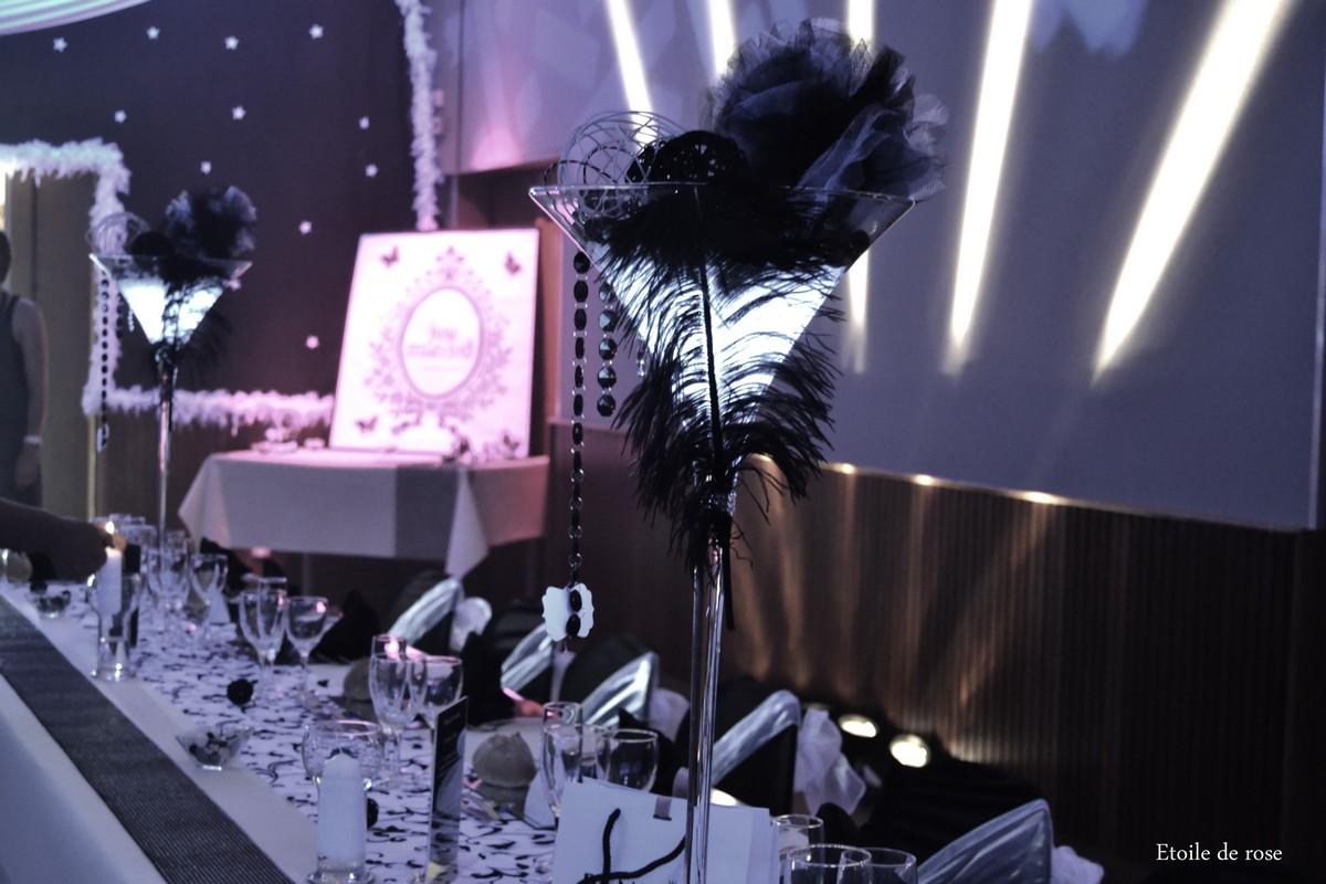 100 de table noir et blanc marques places noir et for Decoration table noir et blanc
