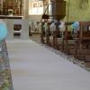 Décoration d'une église thème boules japonaises, en rose bleu vert