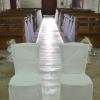 Chaises des mariés à l'église