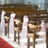 Décoration de bancs d'église