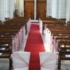 Chaises des mariés dans l'église