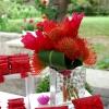 Fleurs exotiques naturelles, pour la table des dragées