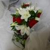 Bouquet disposé dans le landau du spectacle