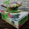 Urne thème Nature Zen en vert et fuschia