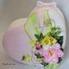 urne coeur rose et verte