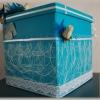 Urne mariage turquoise
