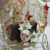 Vitrine de Noël féérie et magie de Noël, carosse