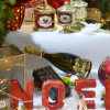 Sucreries, Champagne  et chocolats de Noël