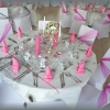 Vu d'une table décorée