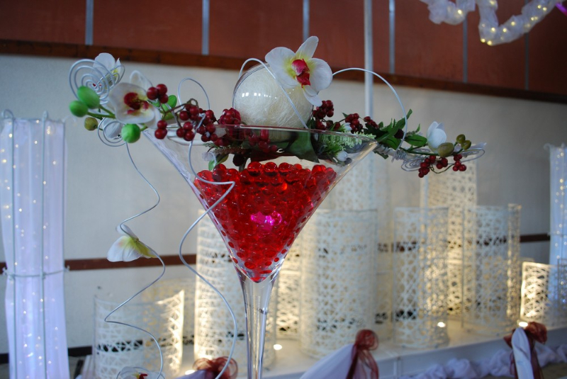 Mariage bordeaux blanc  Etoile de rose