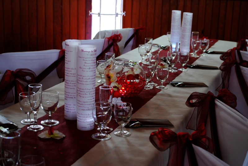 Fabuleux Mariage bordeaux blanc | Etoile de rose | ZS51