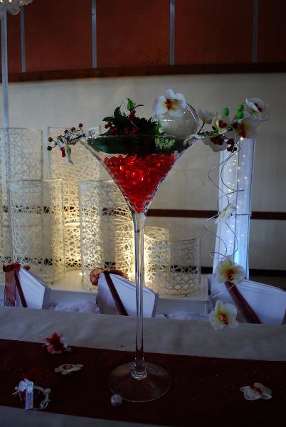 Vase Noir Et Blanc : mariage bordeaux blanc etoile de rose ~ Teatrodelosmanantiales.com Idées de Décoration