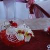 Vase boule avec composition orchidée haut de gamme