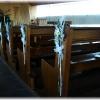 Les bancs d'église décorés