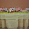 Table d'honneur, Mariage vert et rose tendre