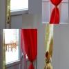 Pose des rideaux en tissu