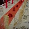 Chemin de table arabesques dorées