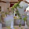 Vase martini vert et blanc