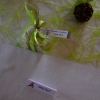 Boîte à dragées vert et blanc