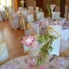 Tables de mariages rose et or