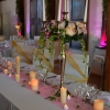 Chandelier argenté mariage romantique