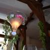 Vase martini lumineux en rose et or