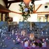 Table illuminée de bougies leds