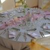 Vue d'une table de mariage romantique