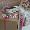 Détail cadeau de Noël déco