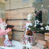 Détail de la décoration chalet de Noël