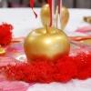 Pomme dorée table de Noël