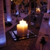 Miroir avec nom de table et bougies