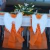 Détail des chaises des mariés