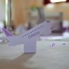 Marque-place forme d'avion