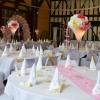 Vase martini en rose et or