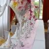 Décoration table d'honneur en rose et or