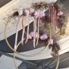 Cerceaux avec fleurs naturelles