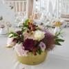 Centre de table, rose et or