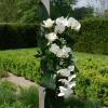 Fleurs naturelles posées sur la Houppa