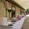 Décoration du vin d'honneur, fleurs naturelles  au Domaine de Vermoise