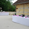 Décoration du vin d'honneur, fleurs naturelles