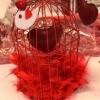 Table de St Valentin sohistiqué, en rouge et or