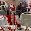 Table de St Valentin sophistiquée, en rouge et or